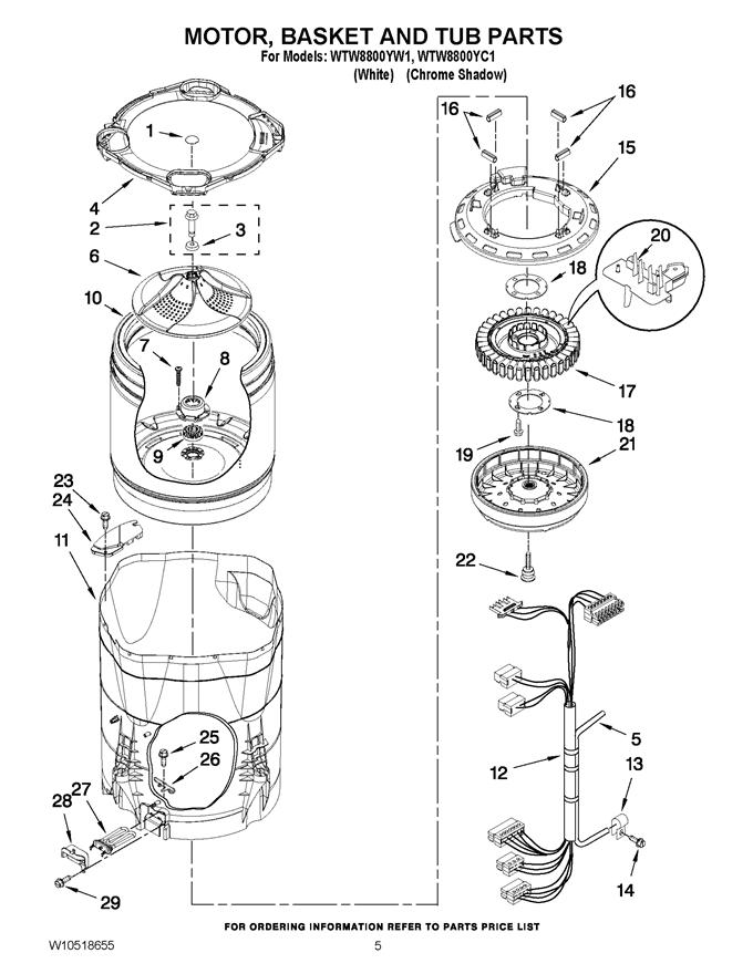 Whirlpool WTW8800YW1 Washer Transmission Gearcase