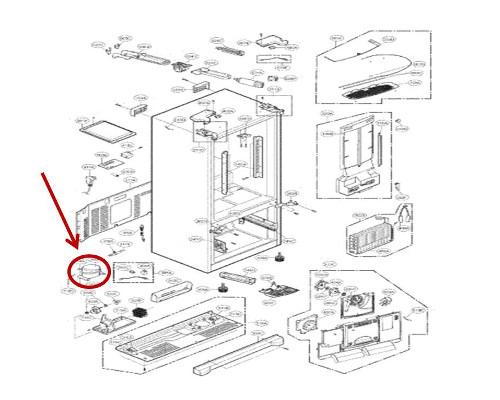 LG Part# TCA35533602 Compressor (OEM