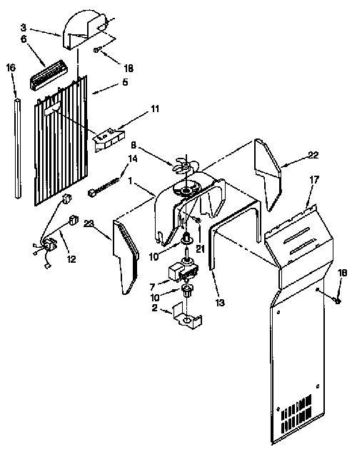 Kenmore 106.58242890 Evaporator Fan Motor Bracket