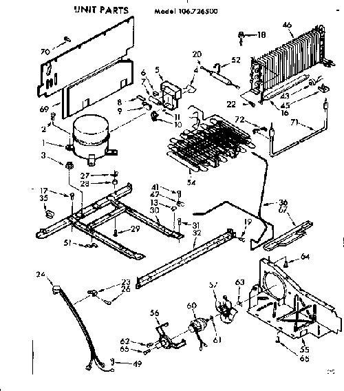 Kenmore 106.726500 Heat Probe/Defrost Drain Strap