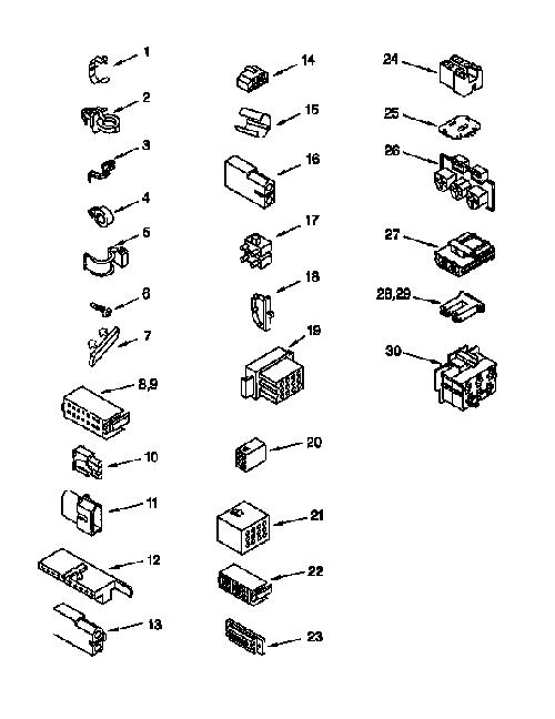 Kenmore 110.16512692 Disconnect/Connector for Motor