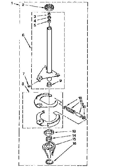 Kenmore 110.22722101 Washing Machine Brake Shoe Assembly