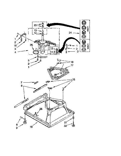Kenmore 110.24722300 Washing Machine Parts