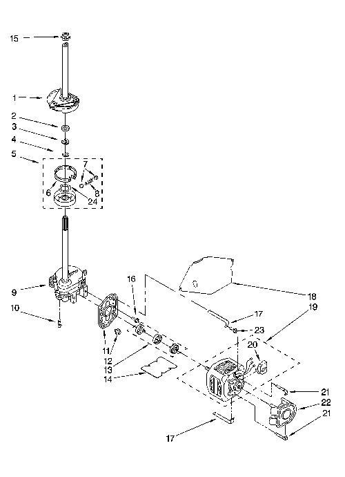 Kenmore 110.28522701 Transmission Gearcase (Neutral Drain