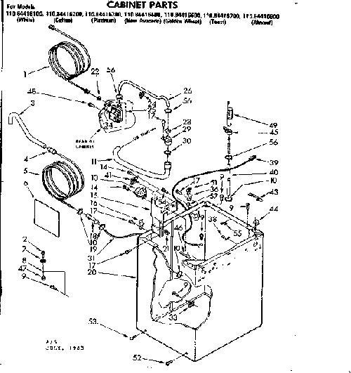 Kenmore 110.84416400 Washer Water Inlet Valve (w/bracket