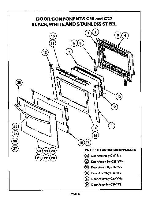 Thermador C302U Oven Parts