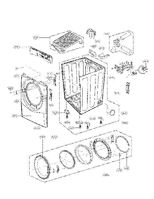 LG DLEX3470V Dryer Parts