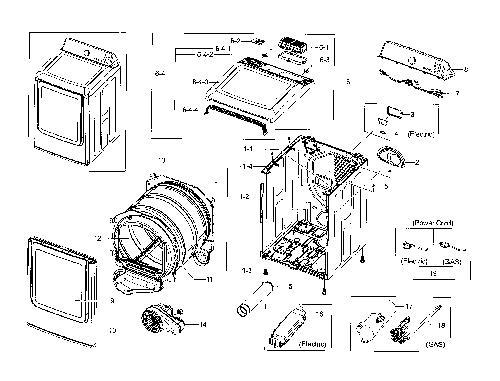 Samsung DV45H7000EW/A2 Dryer Parts