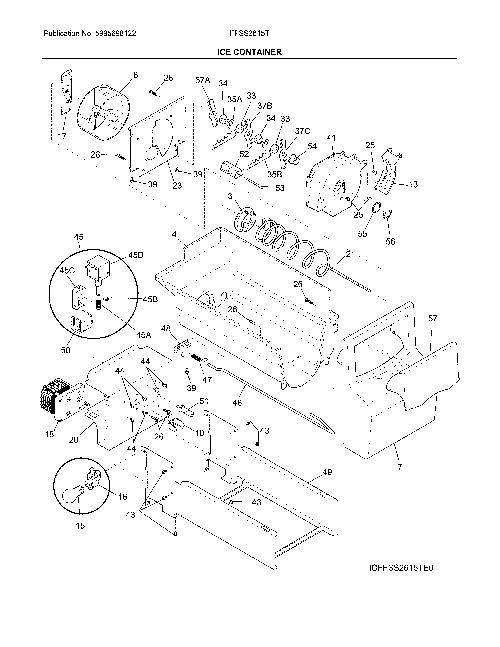 Frigidaire FFSS2615TS0 Refrigerator Parts