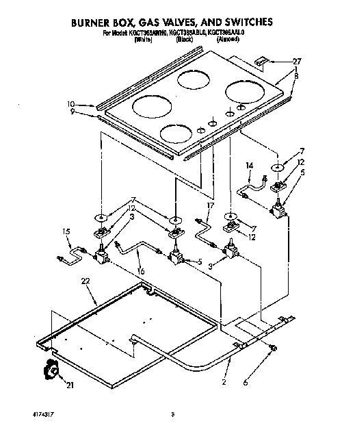 KitchenAid KGCT365AWH0 Oven Spark/Igniter Module Genuine OEM