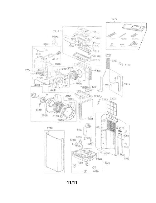 Duct Assembly for LG LP1111WXR Air Conditioner