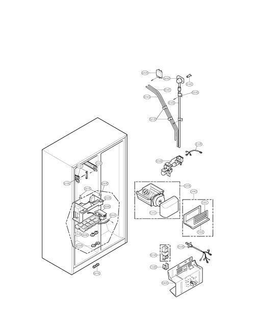 Ice Maker Assembly Kit for LG LSC26905SW Refrigerator