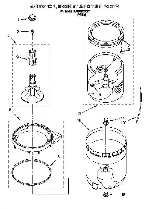 Roper RAB3132EW0 Top Load Washing Machine Outer Tub
