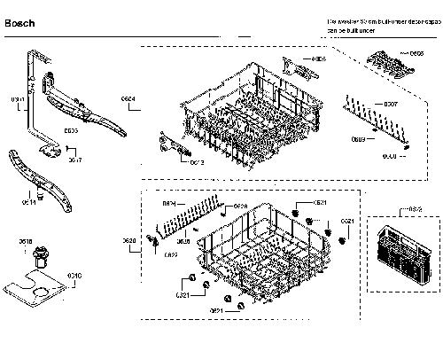 Bosch SHE43RL2UC/64 dishwasher Parts