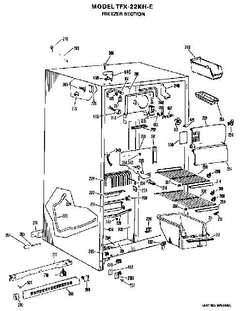 240 Volt Freezer Schematic. assembly view for freezer