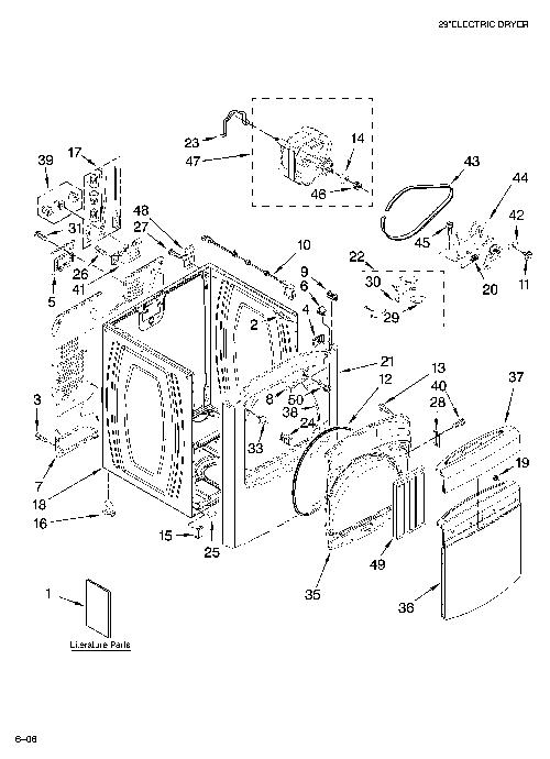 Whirlpool WED6200SW0 Dryer Parts