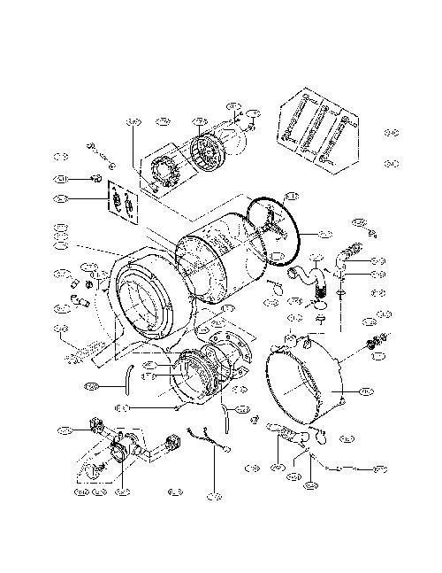 LG WM2501HVA Washing Machine Parts