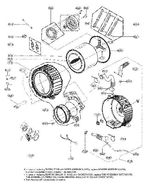 LG WM3700HVA Washing Machine Parts