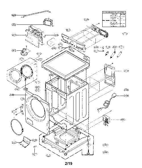 LG WM3700HWA Washing Machine Parts