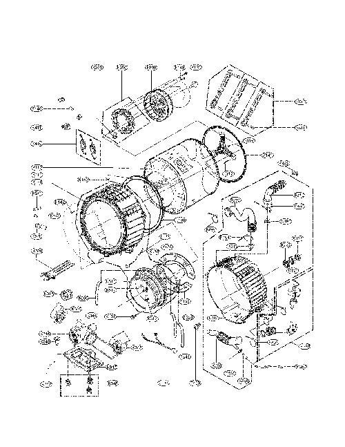 LG WM3875HVCA Washing Machine Parts