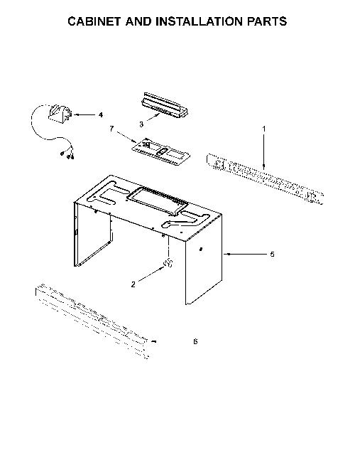 Whirlpool WMH31017HB2 Microwave Parts