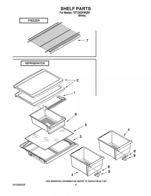 Estate T8TXNGFWQ00 Refrigerator Glass Shelf (not freezer