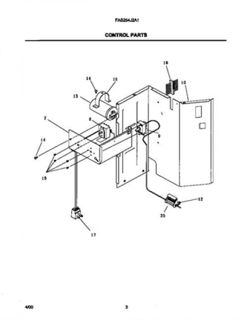Frigidaire FAS254J2A1 Air Conditioner Power Cord