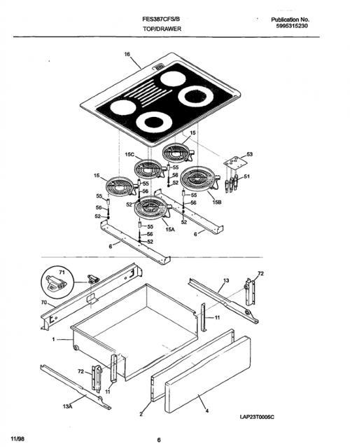 Frigidaire FES387CFBE Radiant Dual Surface Element w