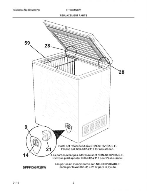 Frigidaire FFFC07M2KW Wire Deep Freezer Basket (White