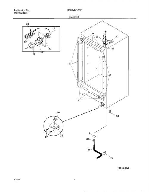 Frigidaire MFU14M2GW5 Drain Plug (interior freezer