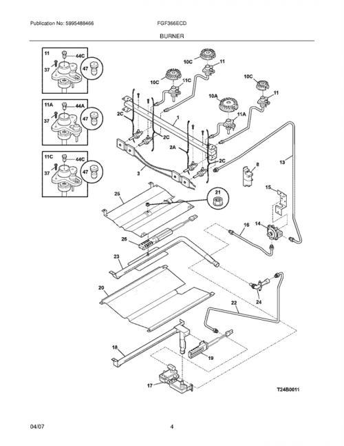 Frigidaire FGF366ECD Spark/Igniter Module w/ Wiring