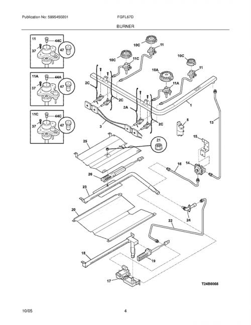 Frigidaire FGFL67DCG Spark/Igniter Module w/ Wiring