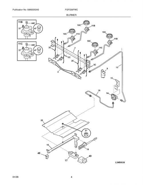 Frigidaire FGFS36FWC Spark/Igniter Module w/ Wiring