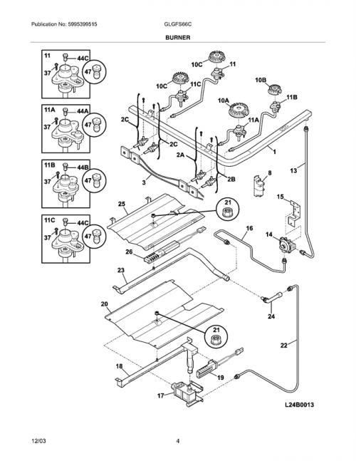 Frigidaire GLGFS66CSB Wiring Harness w/ Igniter Switch