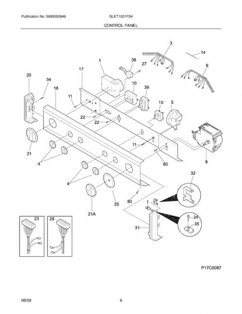 Frigidaire GLET1031FS4 Washer/Dryer Parts