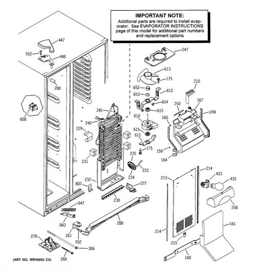 GE MCG23MISBFBB Thermistor Shunt Cover / Sensor Seal