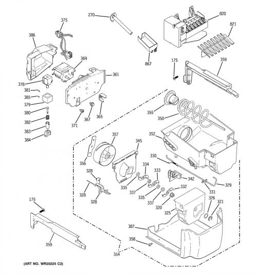 GE PCF25MGWCCC Ice Maker Assembly Kit Genuine OEM