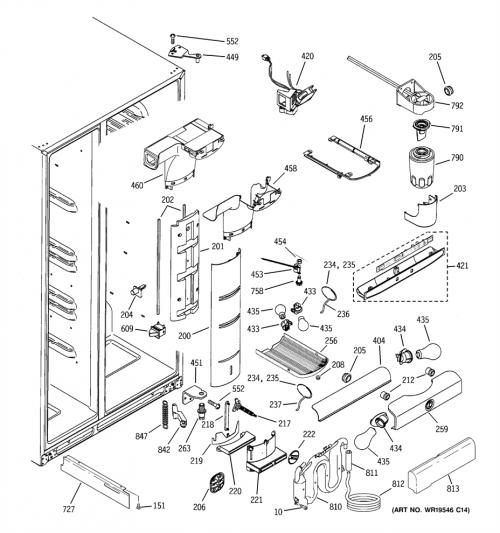 GE PSI23NGPCWW Refrigerator Damper Temperature Control