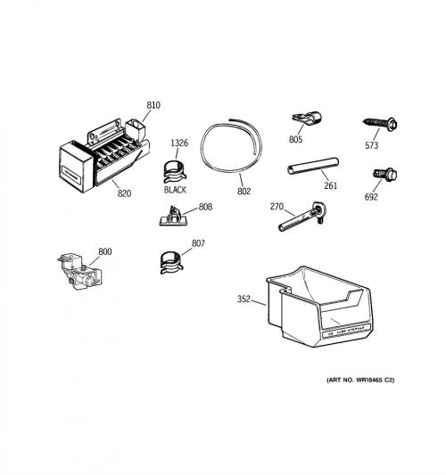 Hotpoint HTS20GCNBWW Ice Maker Assembly Kit Genuine OEM