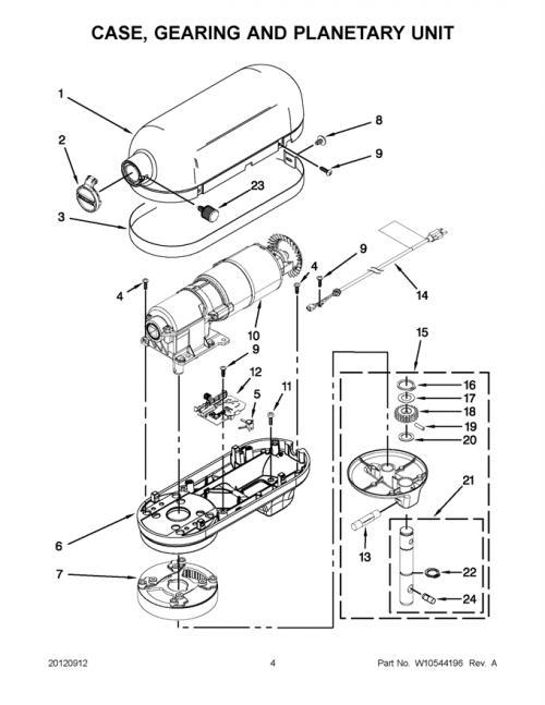 KitchenAid KSM7586PCA1 Mixer Motor