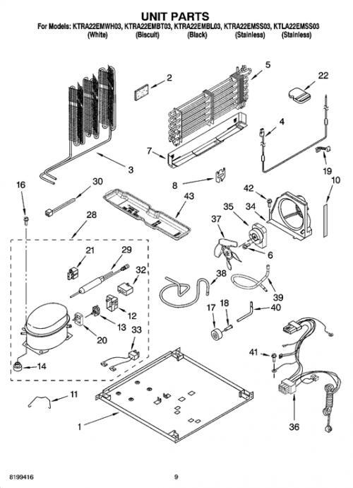 KitchenAid KTRA22EMBT03 Run Capacitor