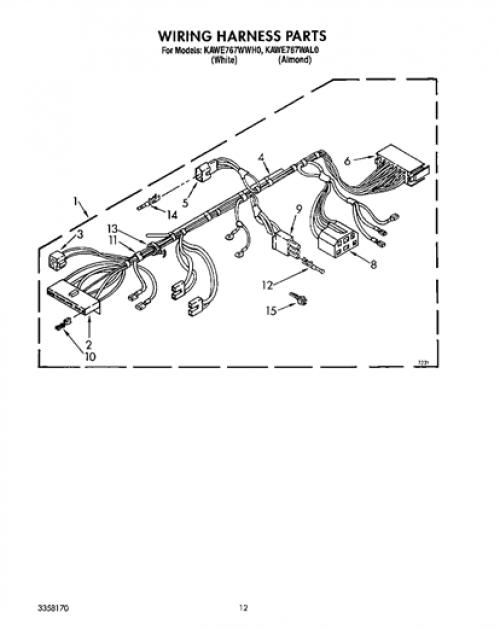 KitchenAid KAWE767WWH0 Disconnect/Connector for Motor