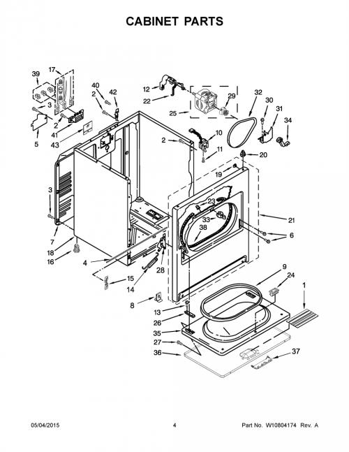 Whirlpool WED5000DW2 Dryer Parts