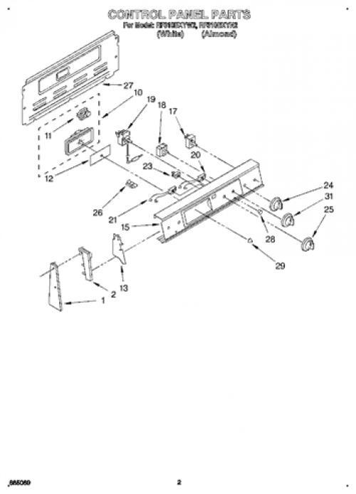 Whirlpool RF310BXYN2 8in Burner Infinite Switch