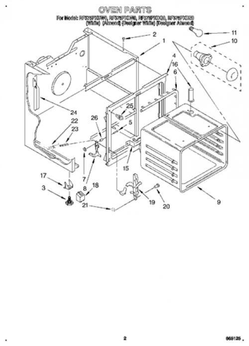 Whirlpool RF375PXDQ0 Infinite Control Switch (Right, Rear