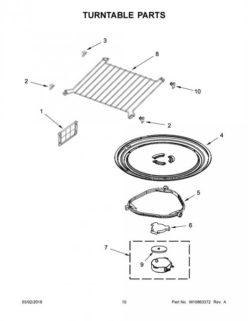 Whirlpool WMH73521CS2 Microwave Cooking Wire Rack-Shelf