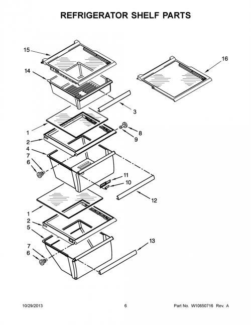 Whirlpool 5WRS22FDBF00 Snack Drawer Shelf (with Glass