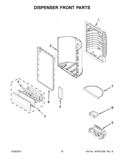 Whirlpool WRX988SIBH02 Refrigerator LED Indicator Light