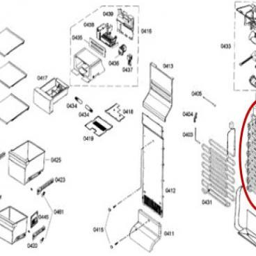 Bosch Part# 00682508 Evaporator (OEM