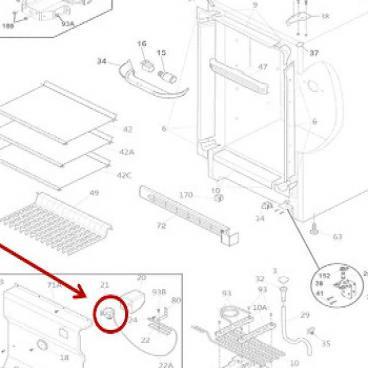 Frigidaire Part# 297415203 Temperature Control Thermostat
